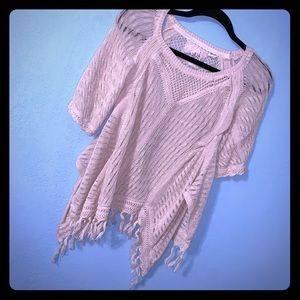 anthropologic Angel of the North Ivory Lace Top